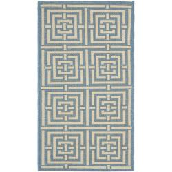 Safavieh Poolside Blue/ Bone Indoor/ Outdoor Rug (2' x 3'7)