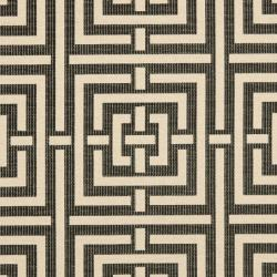 Safavieh Poolside Black/ Bone Indoor/ Outdoor Rug (6'7 Square) - Thumbnail 2