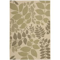 Safavieh Poolside Cream/ Green Indoor/ Outdoor Rug (8' x 11'2)