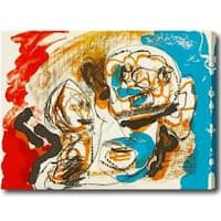 Abstract Oversized Gallery-wrapped Oil on Canvas Art