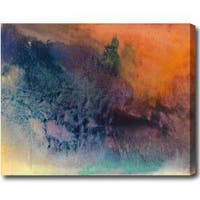 Contemporary 'Sunset' Abstract Oil on Canvas Art - Multi