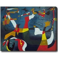 Large Abstract Oil on Canvas Art - Multi
