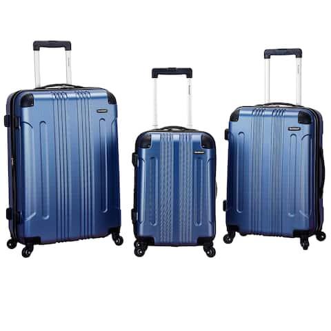Rockland London ABS Lightweight 3-piece Hardside Spinner Upright Luggage Set