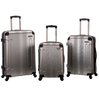Rockland London ABS Lightweight 3-piece Hardside Spinner Upright Luggage Set