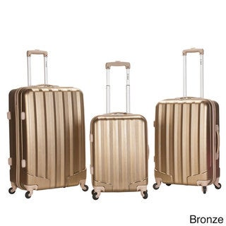 Rockland Santa Fe Light Weight 3-piece Hardside Spinner Upright Luggage Set