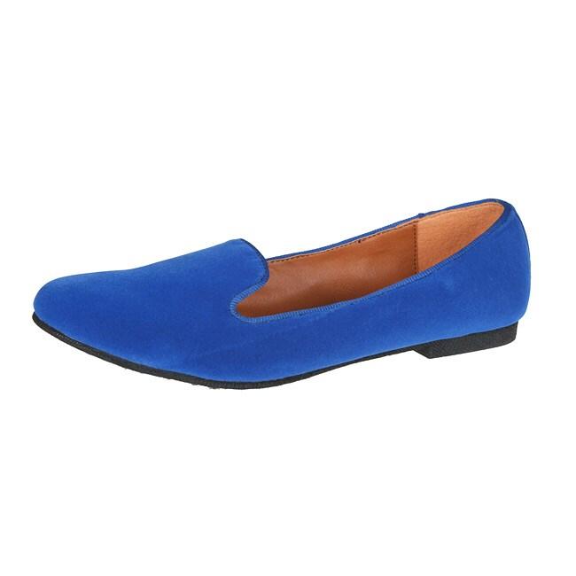 Refresh by Beston Women's 'Belin-03' Blue Suede Flats