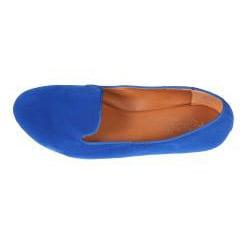 Refresh by Beston Women's 'Belin-03' Blue Suede Flats - Thumbnail 2