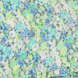 LA77 Women's Blue Floral/ Cream Lace Scarf