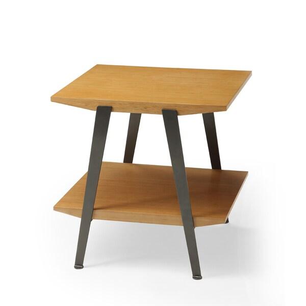 Chai Bamboo/ Gunmetal End Table