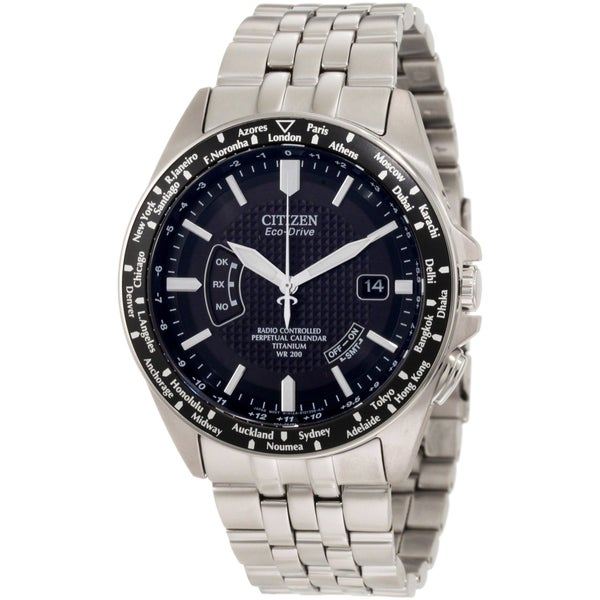 Citizen Men's Eco-Drive Atomic Timekeeping Titanium Watch