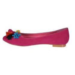Refresh by Beston Women's 'Julia' Fuchsia Tassel Flats