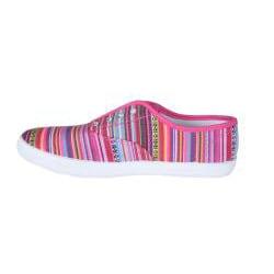 Refresh by Beston Women's 'Lace-01' Fuchsia Bohemian Sneakers - Thumbnail 1