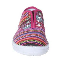 Refresh by Beston Women's 'Lace-01' Fuchsia Bohemian Sneakers - Thumbnail 2