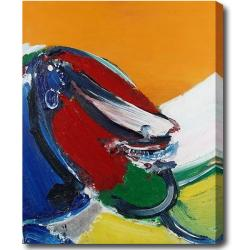 Contemporary 'Face' Abstract Oil on Canvas Art