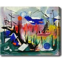 Contemporary Abstract Oil on Canvas Art - Multi