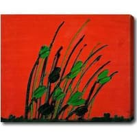 'Grow' Abstract Oil on Canvas Art - Multi