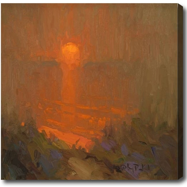 'Sunset' Abstract Oil on Canvas Art