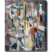 Abstract Gallery-Wrapped Oil on Canvas Art - Multi