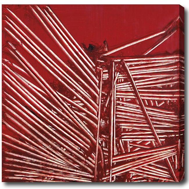 'Steel' Abstract Oil on Canvas Art - Multi