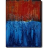 'Woods' Abstract Oil on Canvas Art