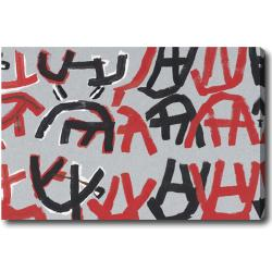 Graffiti-Style Abstract Oil on Canvas Art - Multi - Thumbnail 0