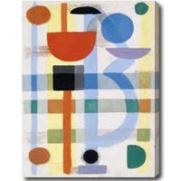 Contemporary 'Abstract' Gallery-Wrapped Canvas Art - Multi