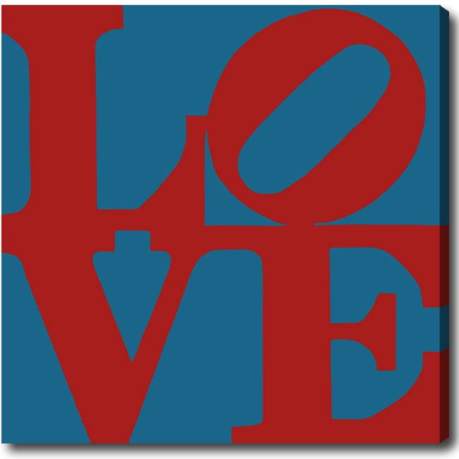 'Love' Gallery-wrapped Canvas Art