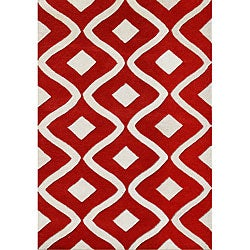 Handmade Sabrina Tomato Wool Rug (8' x 10')