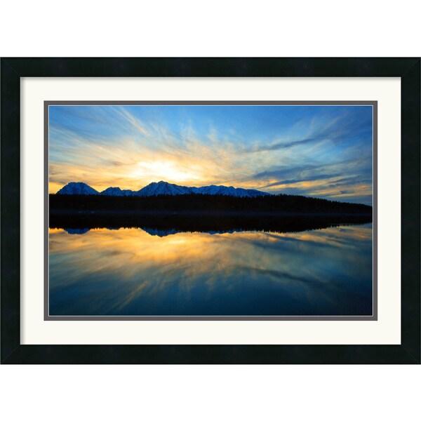 Andy Magee 'Sunset on Jackson Lake' Dual-Border Framed Art Print