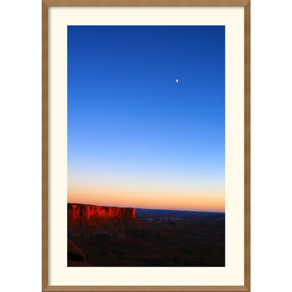 Andy Magee 'Moon Over Canyonlands' Framed Art Print with Natural Gallery Frame
