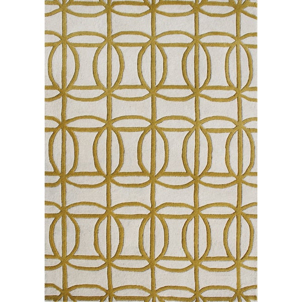 Alliyah Handmade New Wheat New Zealand Blend Wool Rug (5' x 8')