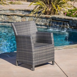 Dawn Outdoor Grey, Brown Wicker Chair by Christopher Knight Home