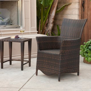 Moonlight Outdoor Wicker Chair by Christopher Knight Home