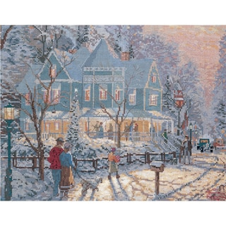 Shop Thomas Kinkade Holiday Gathering Counted Cross Stitch