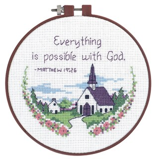 """Learn-A-Craft Everything Is Possible Counted Cross Stitch Ki-6"""" Round"""