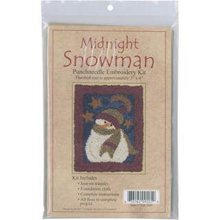 "Midnight Snowman Punch Needle Kit-3""X4in"