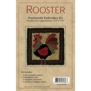 "Rooster Punch Needle Kit-3-3/8""X3-3/8in"