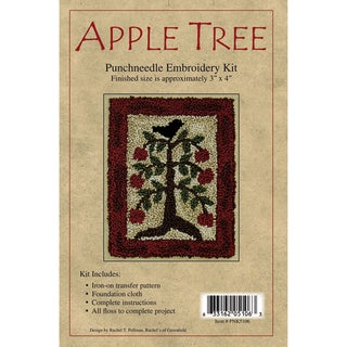"Apple Tree Punch Needle Kit-3""X4in"