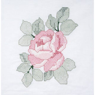 "Stamped Quilt Blocks 18""X18"" 6/Pkg-Red Rose"