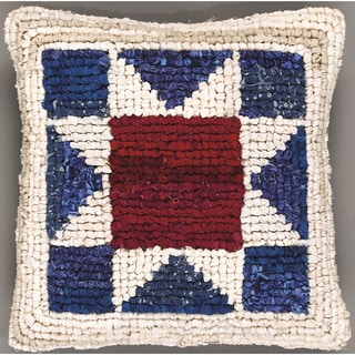 "Quilt Mates Locker Hook Pillow Kit 11""X11""-American Star"