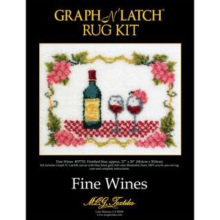 Latch Hook Kit 27 x 20 Fine Wine