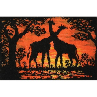 Giraffes At Sunset Latch Hook Kit
