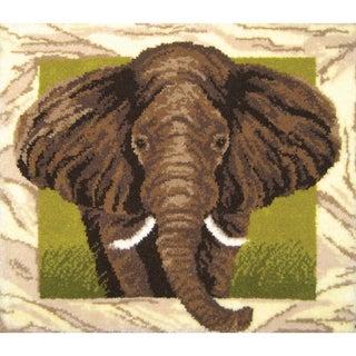 Elephant Portrait Latch Hook Kit