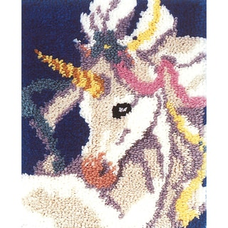 "Latch Hook Kit 15""X18""-Sweet Unicorn"