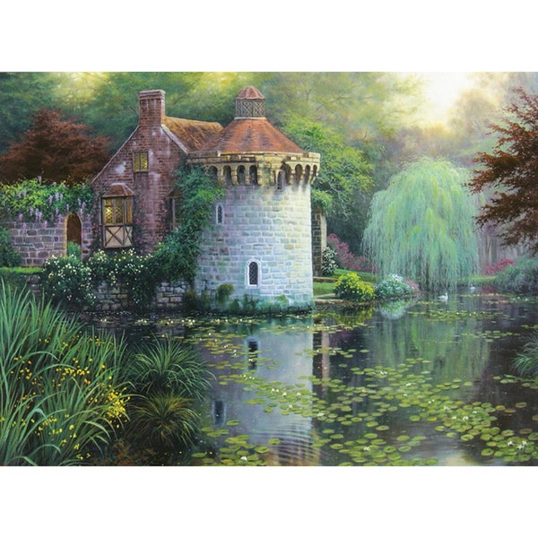Scotney Castle Garden Counted Cross Stitch Kit- 16 Count