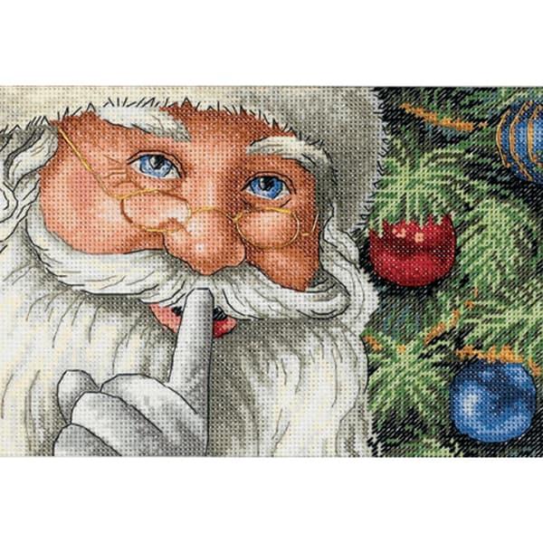 "Gold Collection Petite Santa's Secret Counted Cross Stitch K-7""X5"""