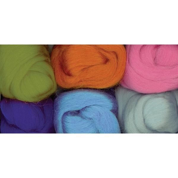 Paint Box Wools .33 Ounce 6/Pkg-Earth, Sea & Sky -Orn/Olv/Pur/Pk/Bl/Seaf