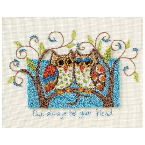 """Owl Always Be Your Friend Punch Needle Kit-10""""X8"""""""