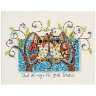"Owl Always Be Your Friend Punch Needle Kit-10""X8"""