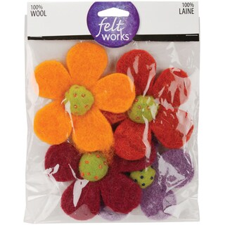 Feltworks Shapes-Crazy Daisies 4/Pkg